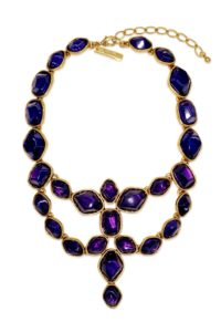 Oscar de la Renta - Deep Amethyst Statement Necklace