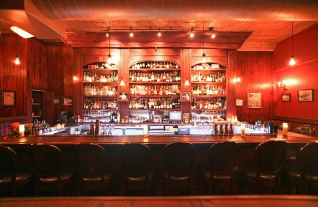 The bar at Williams and Graham, which was designed by co-owner Sean Kenyon.  Photo Credit:  Yelp.com.