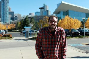Jeffrey Becker of campus at the Community College of Denver.