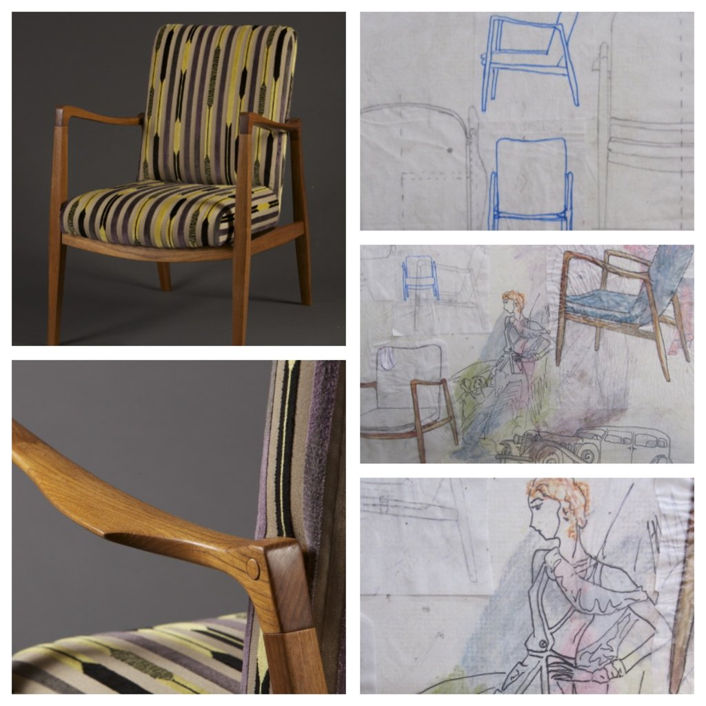 From concept to finished product Finn Chair, artisan Meredith Nicole Photos Left By Ingeborg Suzanne, Photos Right By Meredith Nicole