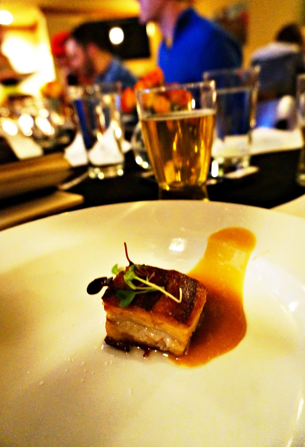 Pork Belly and Carmel, The Lobby Denver, Brittany Werges
