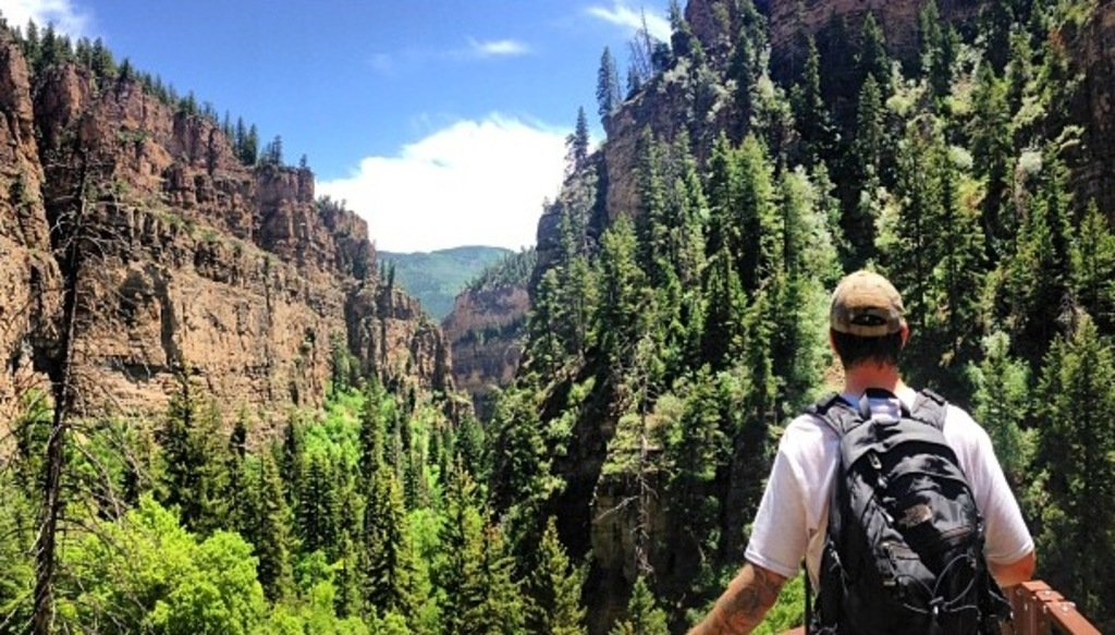 View of Glenwood Canyon  from Hanging Lake