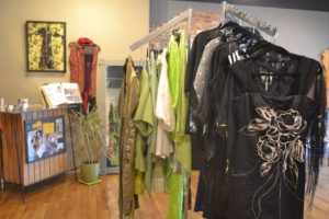 An inside look at some art-wear at Carol Mier Fashion. Photo Credit: Crystal Anderson