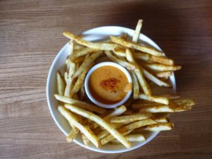 The oh-so-delicious Vesper Fries with Harissa Aioli