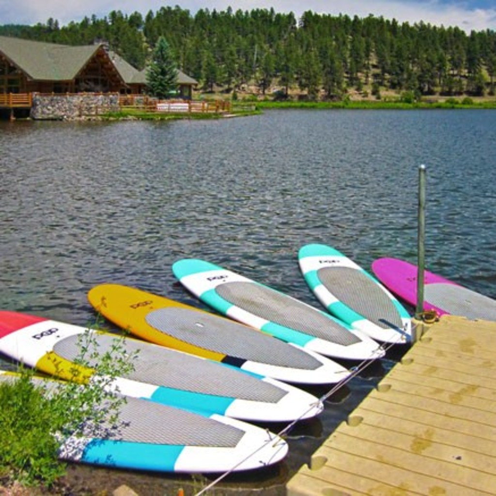 SUP Boards at Evergreen Lake