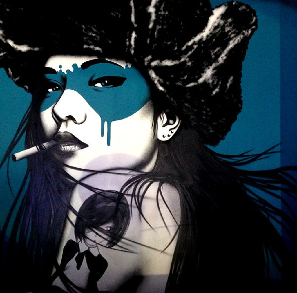 Session Kitchen mural by Angelina Christina in collaboration with Fin Dac.