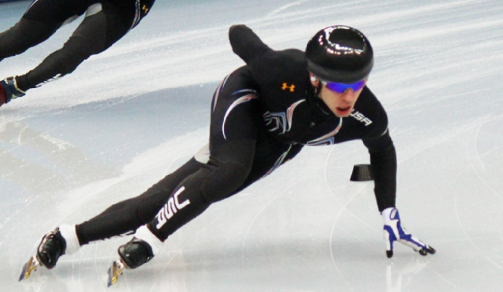 Jordan practicing in Sochi days before the 2014 Winter Olympics. Photo by Nanna Meyer