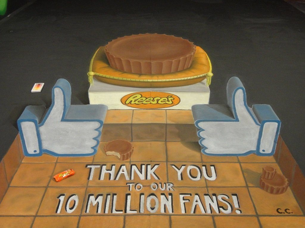 Reeses comissioned 10 Million Fans piece, photo courtesy of Chris Carlson
