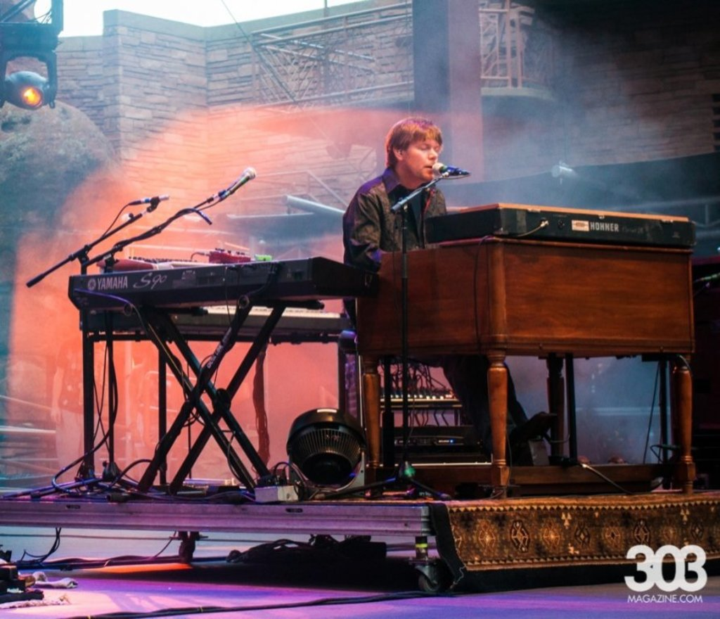 Kyle with String Cheese Incident in 2013 at Red Rocks / Photo courtesy Teresa Taylor