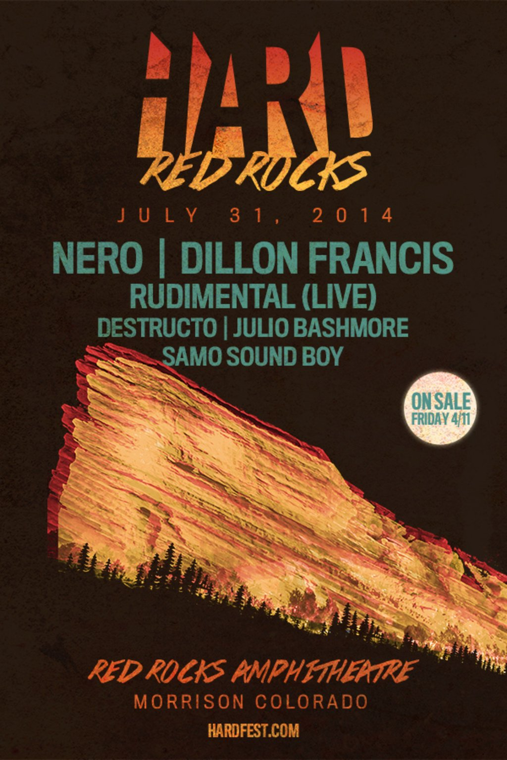 Official Hard Red Rocks Poster