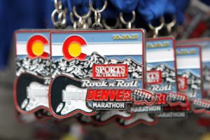 2013 Denver Rock n Roll Marathon medals. Photo from photo run.net