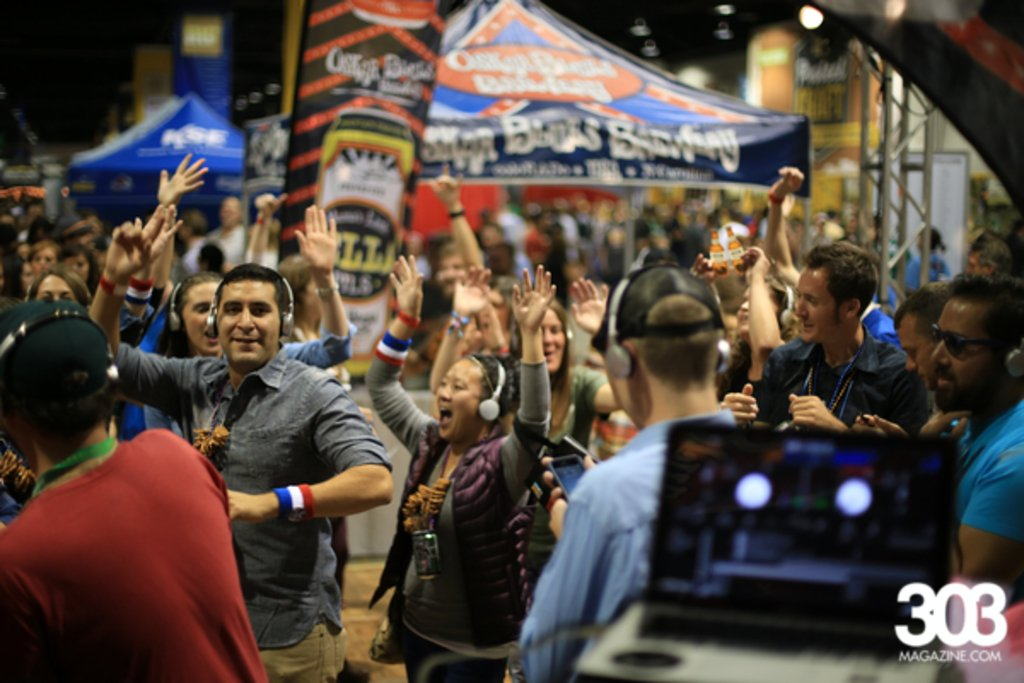 Silent Disco Dancers during GABF