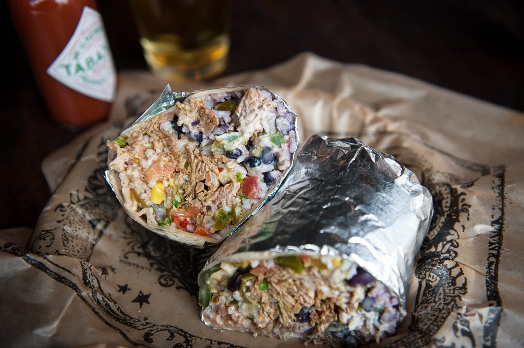 Illegal Pete's burrito. Photo by Glenn Ross.