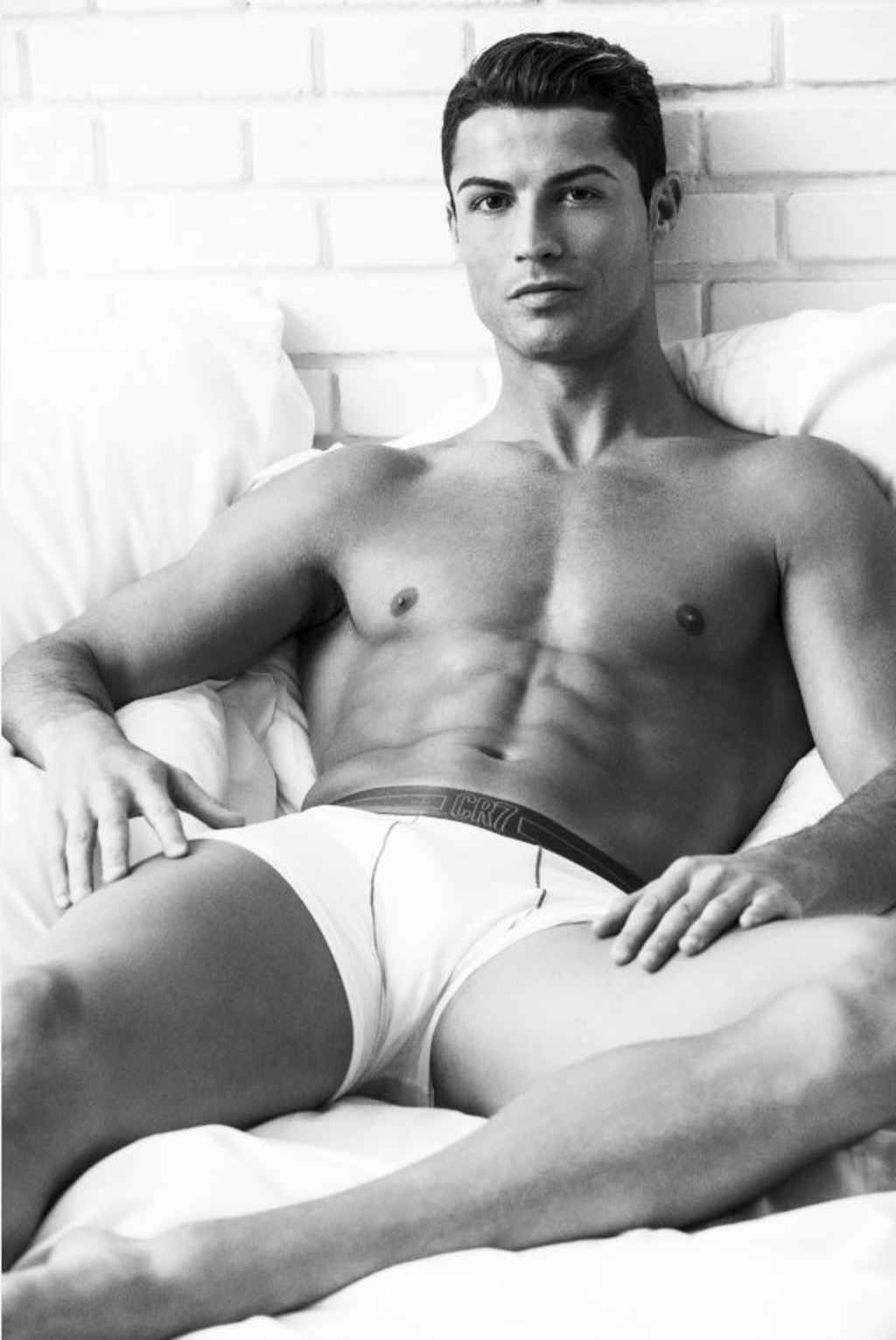 Christiano Ronaldo modeling his own underwear line, CR7.