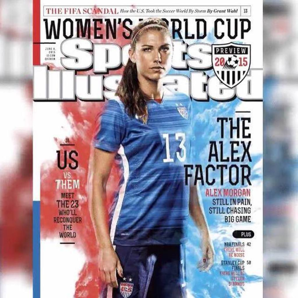 Alex Morgan on the cover of Sports Illustrated