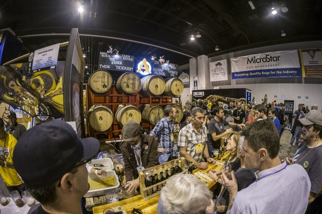 Avery booth at GABF. Photo by Will Dozier.