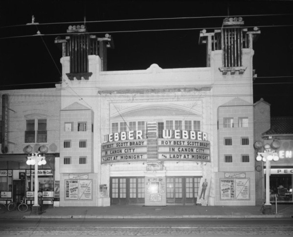 Weber Theatre. Photo from Denver Public Library Digital Archive