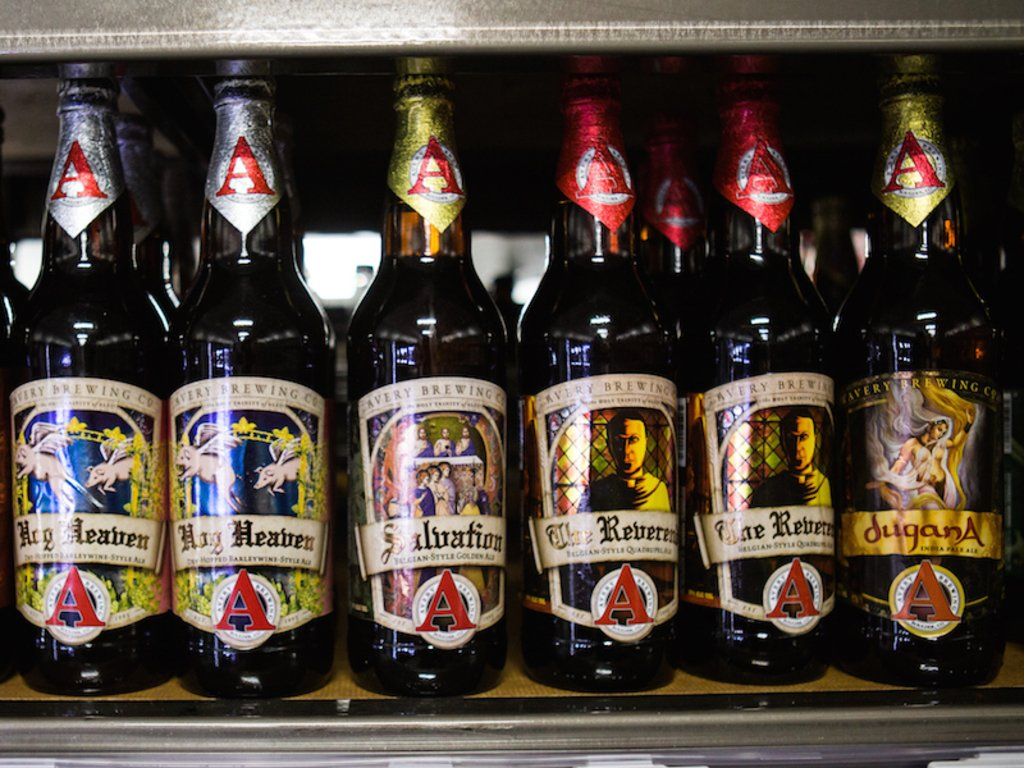 Avery Brewing Co beers. Photos by Camille Breslin.