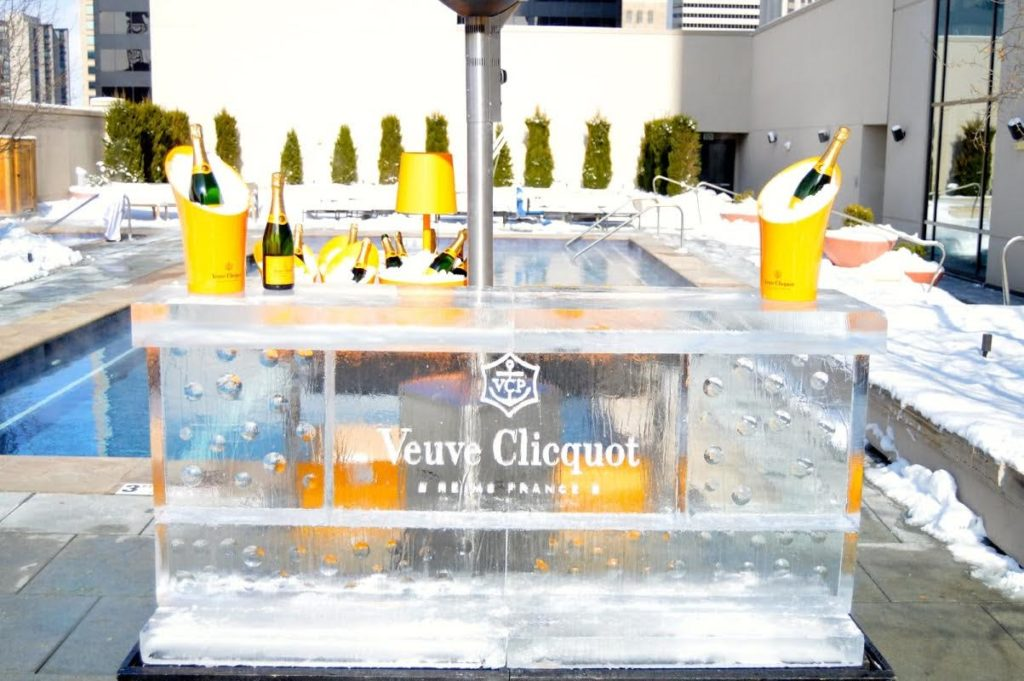 Clicquot in the Snow at Four Seasons Hotel Denver. Photo by Caitlin Roth.