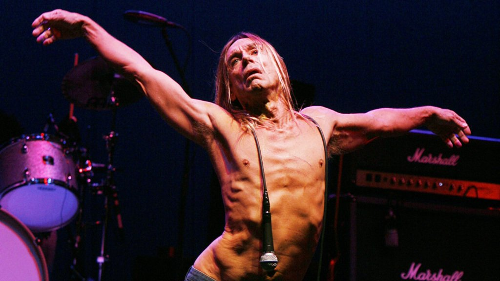 LOS ANGELES - APRIL 23: The Stooges, with singer Iggy Pop, perform at the Wiltern Theater on April 23, 2007 in Los Angeles, California. (Photo by Kevin Winter/Getty Images) *** Local Caption *** Iggy Pop
