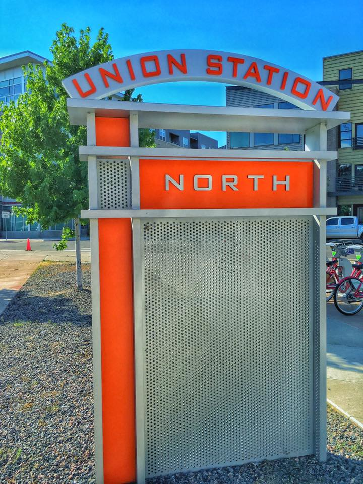Union Station North's new sign. Photo courtesy of Union Station North on Facebook.