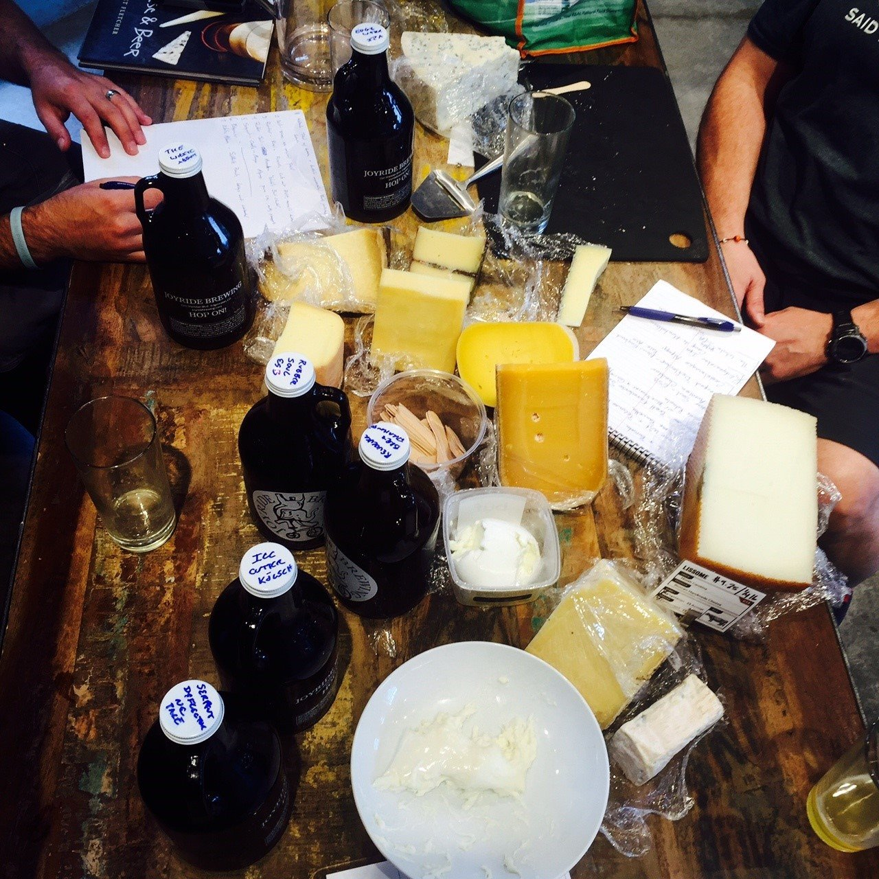 Prepping for the Cheese + Provision's class. Photo courtesy of Cheese + Provisions Facebook