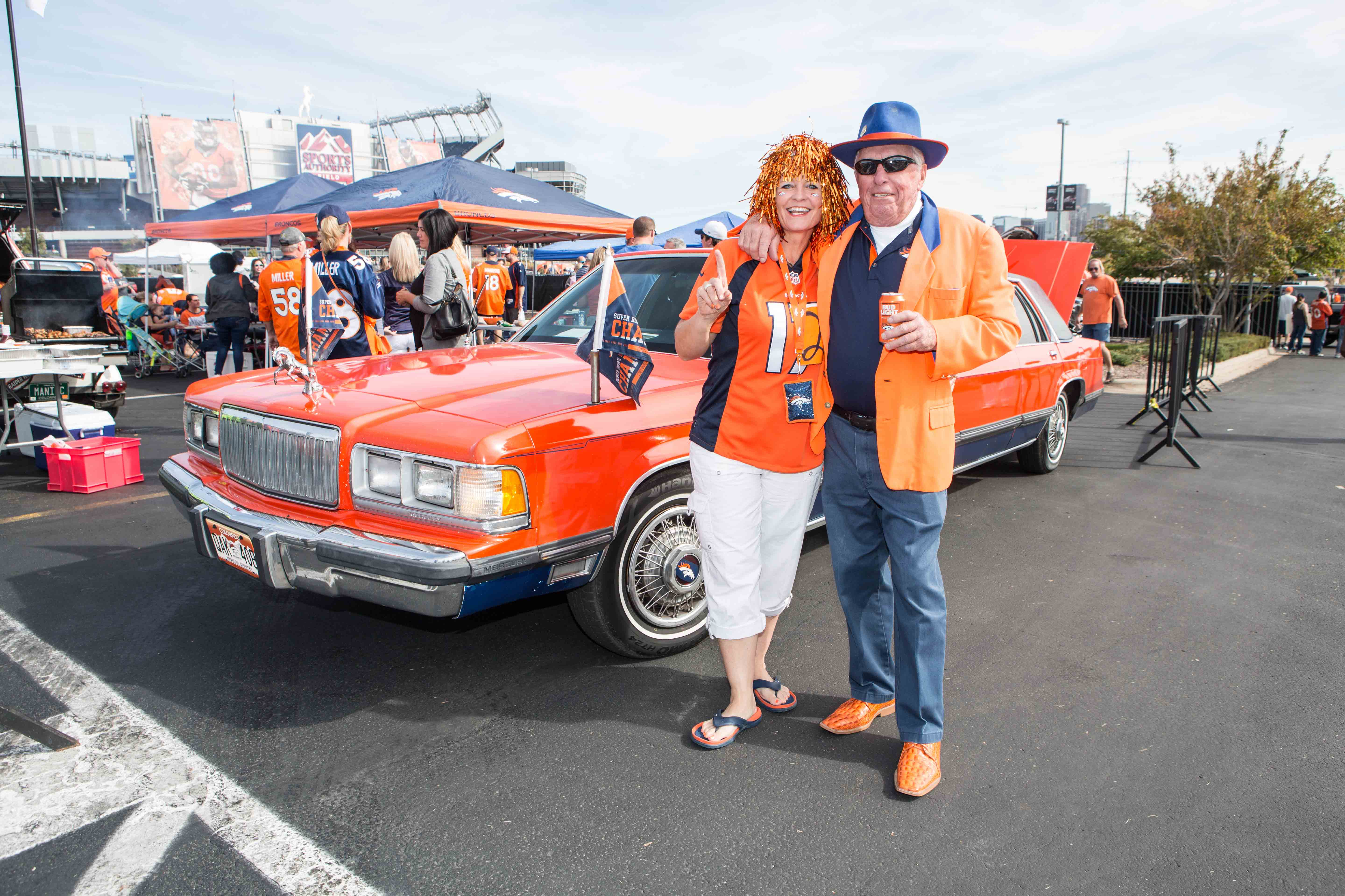 Kelly Wilson and Ron Woodward aka the self-proclaimed Mayor of Denver are literally the OG's of the tailgate.