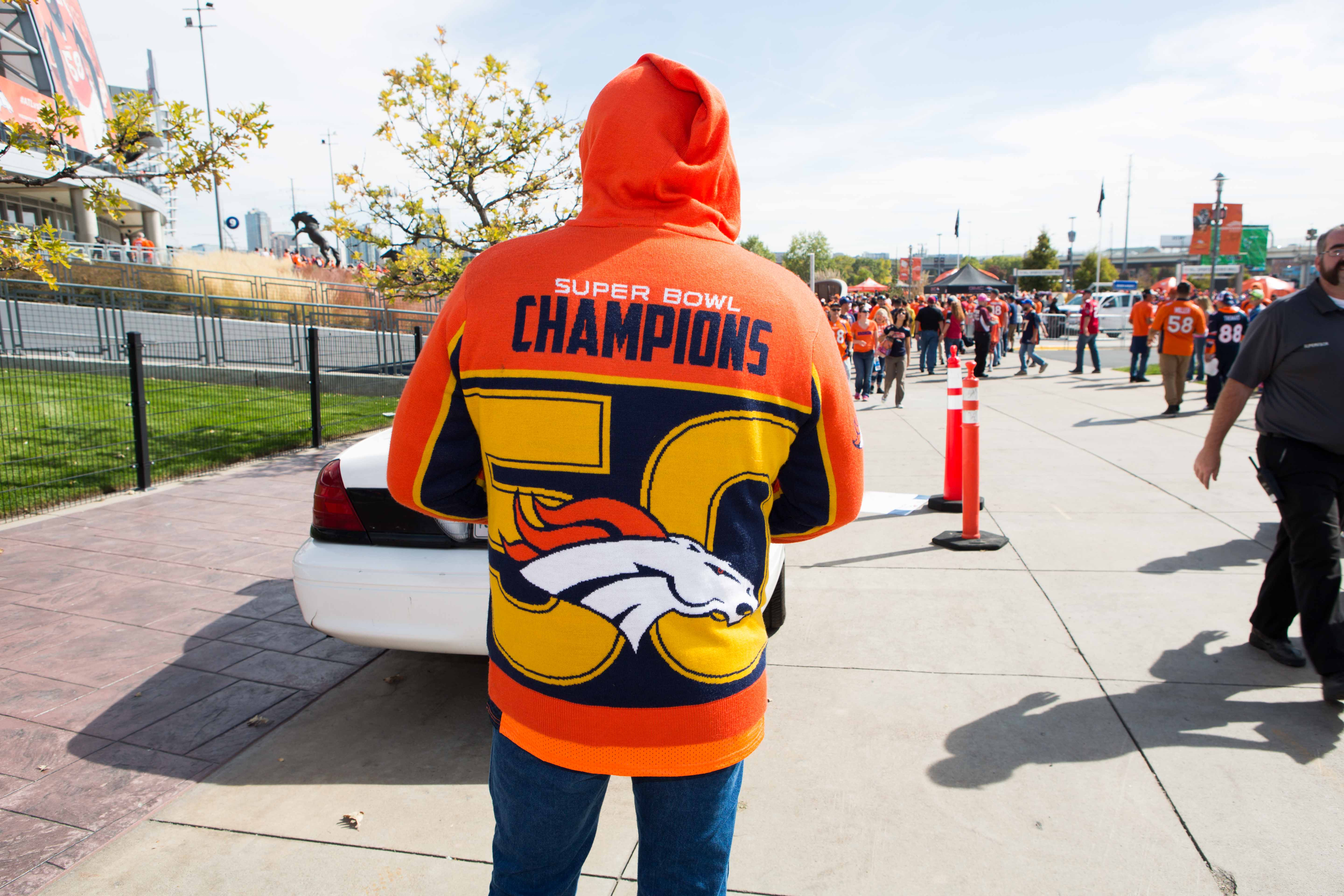 It might have been a little hot (game temps were around 80 degrees) but this Super Bowl sweater turned heads.