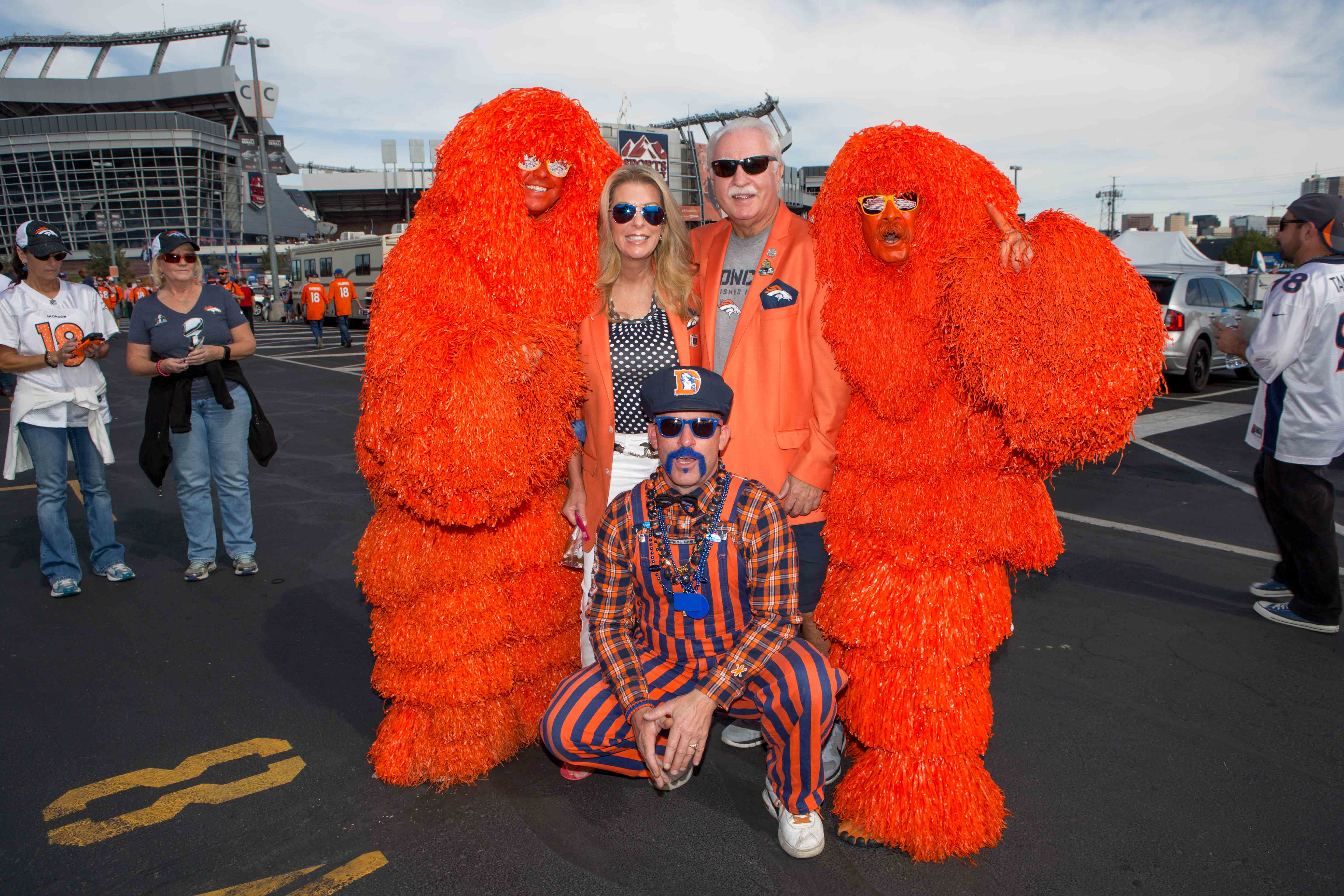 If you have been to any tailgate in the last 10 years you have probably seen these two -- walking around in their homemade pom pom get-ups.