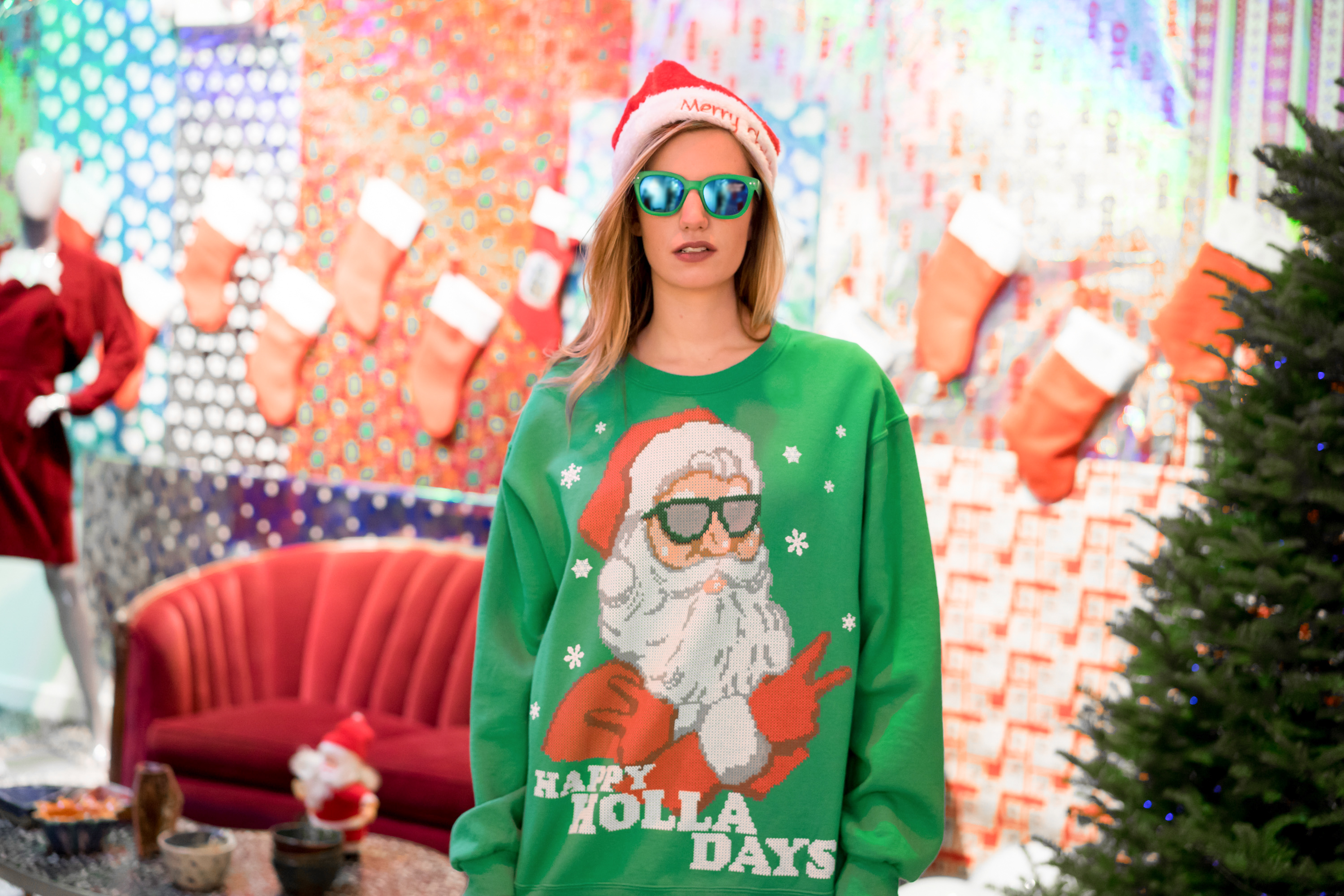 Ugly Sweater, 303 Fashion, 303 Magazine, Denver Fashion, Holiday Fashion, Ugly Sweaters, Holiday Parties, Shop Local, Buffalo Exchange, Denver Style, Abby Hackmann, Kiddest Metaferia, Sweater Season, Winter Wear, Style Guide