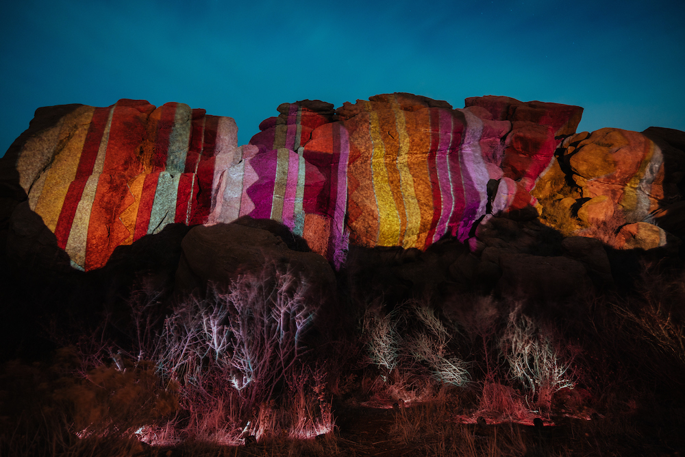 Ryan Good, Cori Anderson, 303 Magazine, Digital Light Graffiti, Knomad Colab, Red Rocks, Knomad Colab Red Rocks