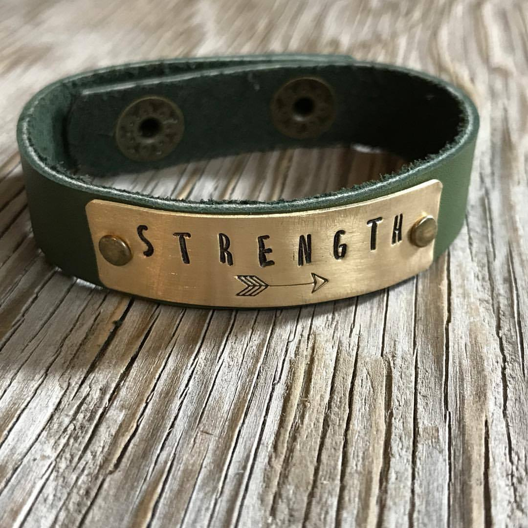 Women Bracelets Inspirational Bangle Cuff Engraved Sayings Quote Trinket Gift LH