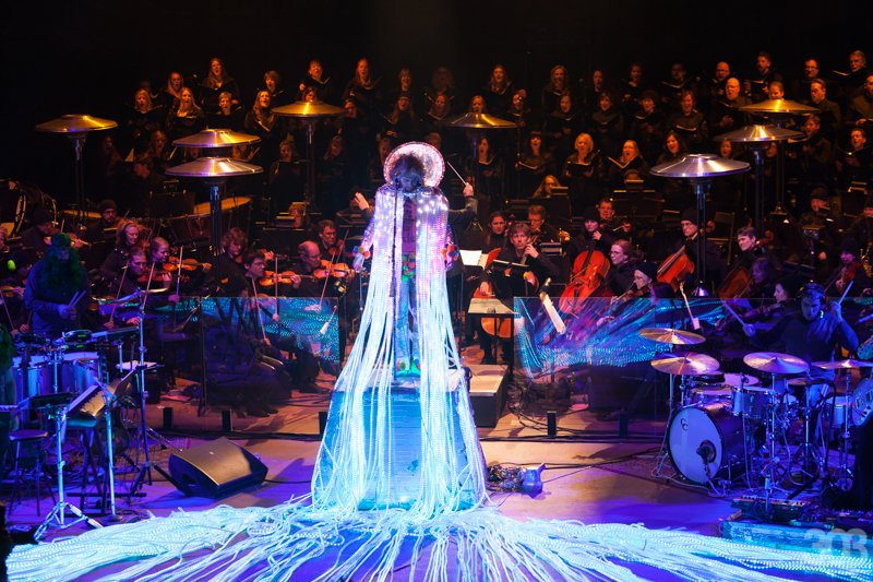 the flaming lips, red rocks, colorado symphony orchestra, kait starr, jacqueline collins
