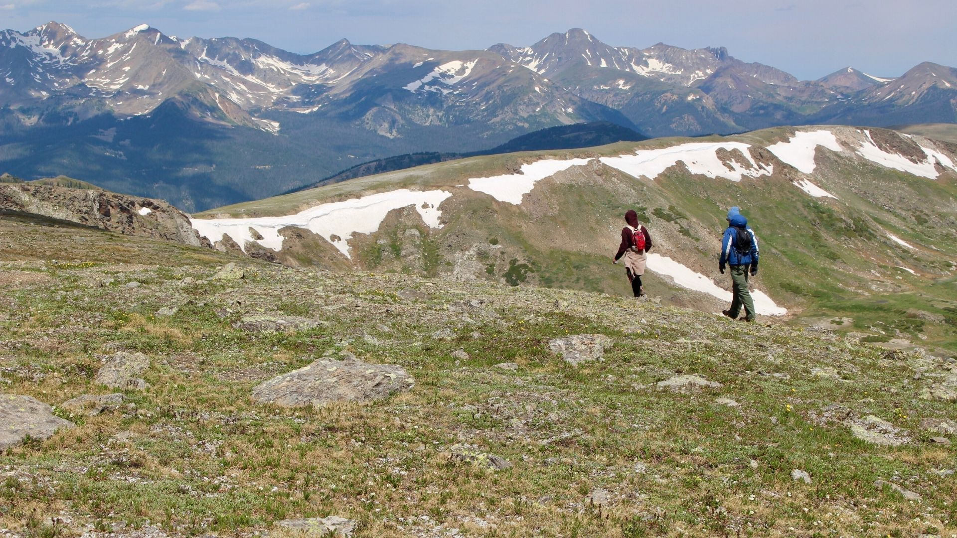 Hikers at Rocky Mountain National Park