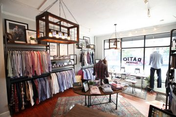 Interior of Ratio Clothing